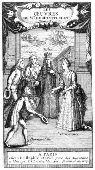 Antoine Jacob - The characters of La Femme juge et partie from a posthumous edition