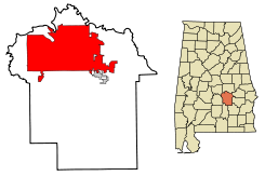 Montgomery County Alabama Incorporated and Unincorporated areas Montgomery Highlighted.svg