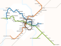 Montpellier - Tramway network map 2012-2.png