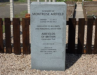 Airfields of Britain Conservation Trust - Memorial placed by the Trust at Montrose Airfield