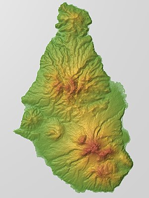 Soufrière Hills - Relief Map