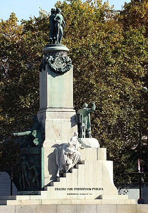 Mariano Benlliure - Image: Monumento a Castelar (Madrid) 02