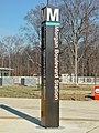 Morgan Boulevard station entrance pylon (50076218063).jpg