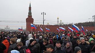 Politics of Russia - Russian opposition protest in Moscow, 1 March 2015