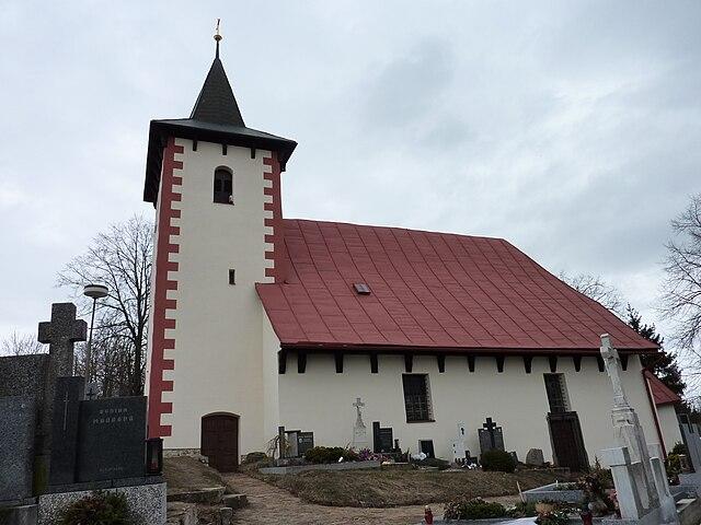 Mostiště, kostel sv. Marka, Od Marek Blahuš (Vlastní dílo) [CC BY-SA 3.0 (http://creativecommons.org/licenses/by-sa/3.0)], prostřednictvím Wikimedia Commons