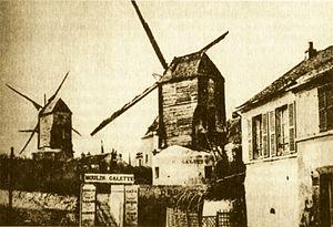 Moulin de la Galette - Photo of Moulin de la Galette in 1885