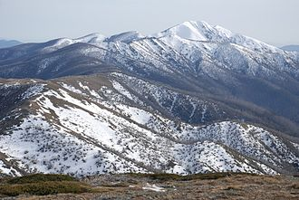 Australian Alps National Parks and Reserves - Image: Mount Feathertop and Razorback