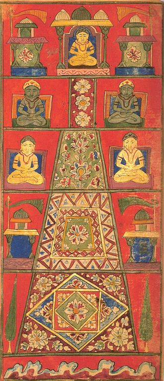Mount Meru - Painting of Mount Meru from Jain cosmology from the Samghayanarayana