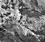 Mount Spurr, mountain glaciers with bergschrund and icefall, September 22, 1992 (GLACIERS 6893).jpg