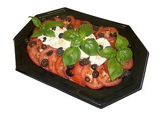 Caprese salad - Image: Mozzarella and Tomato Salad Platter
