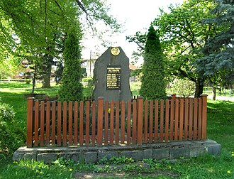 Mrákotín (Chrudim District) - Image: Mrákotín, memorial