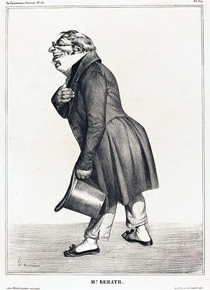 Auguste Hilarion, comte de Kératry - Caricature by Honoré Daumier, 1833.