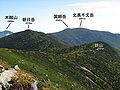 Mt.Asahidake and Mt.Kokushidake and Mt.Kitaokusenjodake from Mt.Kinpu 01-2.jpg