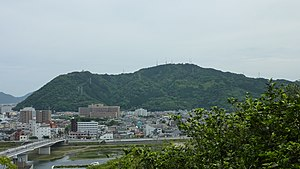 MtAtago Nobeoka from Shiroyama 2010.JPG