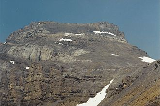 Mount Richardson (Alberta) - South slopes of Mt. Richardson, August 1994