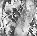 Muir Glacier, tidewater glacier, hanging glaciers, and firn line, September 17, 1966 (GLACIERS 5696).jpg