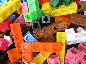 "Manipulative (mathematics education) - Interlocking ""Multilink"" cubes"