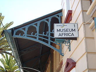 MuseuMAfricA - Sign at the entrance to the Museum Africa