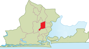 Mushin, Lagos - Location of Mushin within Lagos Metropolitan Area