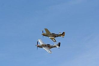 RAF Breighton - Mustangs Flying During Breighton Airshow