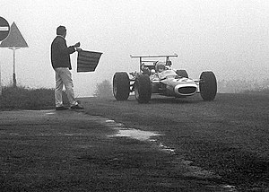 Jean-Pierre Beltoise - In a Matra car during practice for the 1968 German Grand Prix.