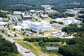 Greenbelt, Maryland - Aerial view of NASA's Goddard Space Flight Center, in Greenbelt, Maryland