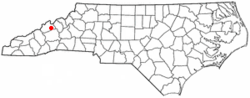Location of Mars Hill, North Carolina