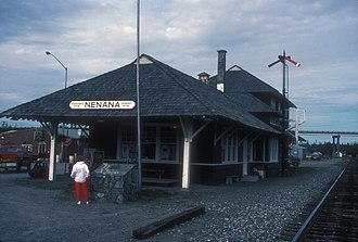 Unorganized Borough, Alaska - Image: NENANA DEPOT