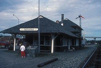 National Register of Historic Places listings in Yukon–Koyukuk Census Area, Alaska - Image: NENANA DEPOT