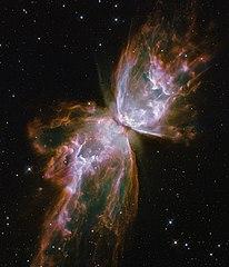 Gas yang dimuntahkan oleh bintang yang sekarat dalam nebula planeter akan memiliki bentuk yang relatif teratur.