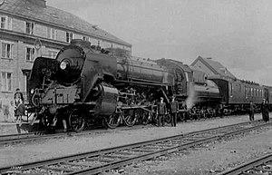 NSB Class 49 - Dovregubben at Oppdal station 1935