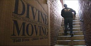 English: Divine Moving in one of NYC west vill...