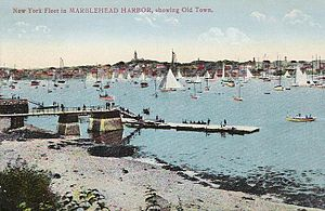 Marblehead Harbor - The harbor, in 1908