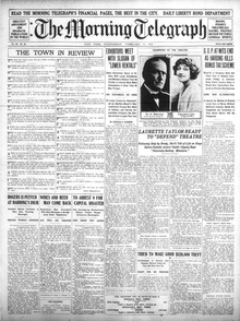 NY Morning Telegraph front page Feb 15 1922.png