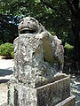 Nagase-Tenmangu Shrine komainu a-gyo.JPG