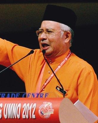 Najib Razak - Najib at an UMNO General Assembly