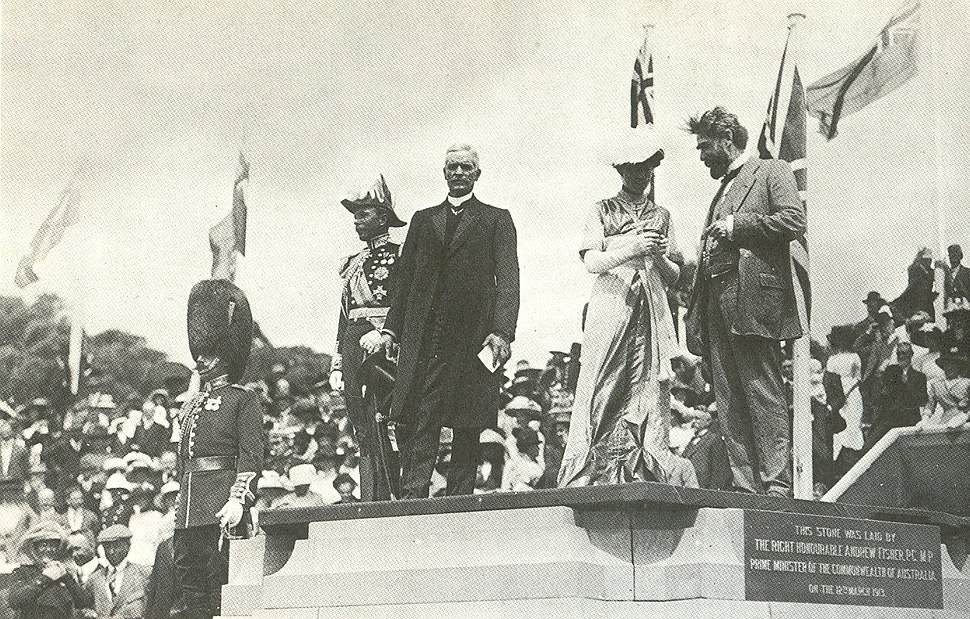 Naming of city of canberra capital hill 1913