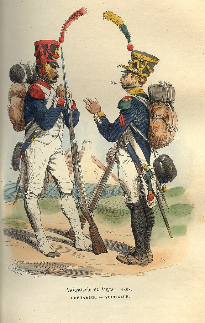 Napoleon Grenadier and Voltigeur of 1808 by Bellange