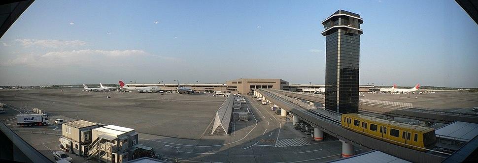 Narita International Airport - panorama from inside Yahoo! Internet Cafe