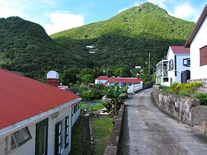 Mount Scenery - Image: Narrow Streets of Windwardside