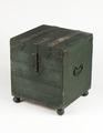 Nattstol (potta) i form av låda i grönmålad furu från 1600-talet - Skoklosters slott - 95287.tif