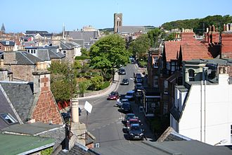 North Berwick - A view east towards the town centre
