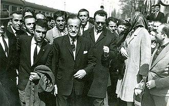 Necip Fazıl Kısakürek - Necip Fazıl (middle) in the 1950s
