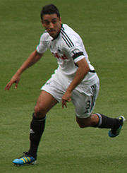 Taylor playing for Swansea in 2011