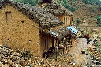 Vernacular architecture - Stone and clay houses in rural Nepal