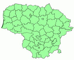 Location of Neringa Municipality within Lithuania