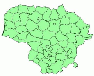 Neringa Municipality - Image: Neringa mun location