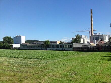 Im Nestle-Werk Biessenhofen wurde bis Ende 2007 Bärenmarke-Kondensmilch produziert.