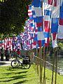 Neu-Ulm - Donaufest 2014, Fahnen am Jahnufer.JPG
