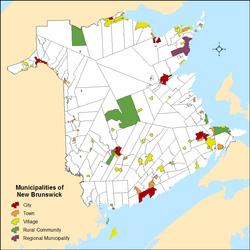 List of municipalities in New Brunswick Wikipedia